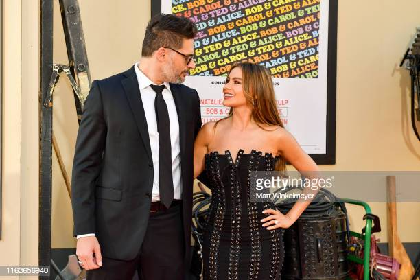 """Joe Manganiello and Sofia Vergara attend Sony Pictures' """"Once Upon A Time...In Hollywood"""" Los Angeles Premier on July 22, 2019 in Hollywood,..."""