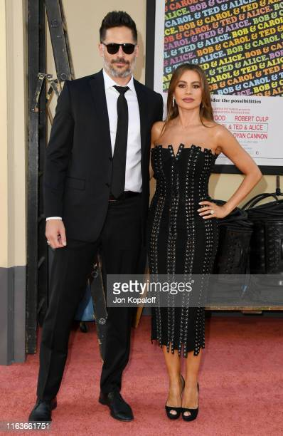 """Joe Manganiello and Sofia Vergara attend Sony Pictures' """"Once Upon A Time...In Hollywood"""" Los Angeles Premiere on July 22, 2019 in Hollywood,..."""