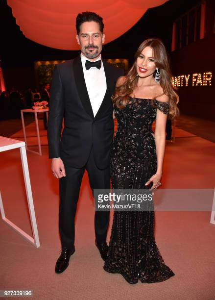 Joe Manganiello and Sofia Vergara attend the 2018 Vanity Fair Oscar Party hosted by Radhika Jones at Wallis Annenberg Center for the Performing Arts...
