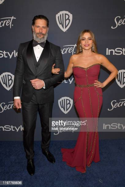 Joe Manganiello and Sofia Vergara attend The 2020 InStyle And Warner Bros. 77th Annual Golden Globe Awards Post-Party at The Beverly Hilton Hotel on...
