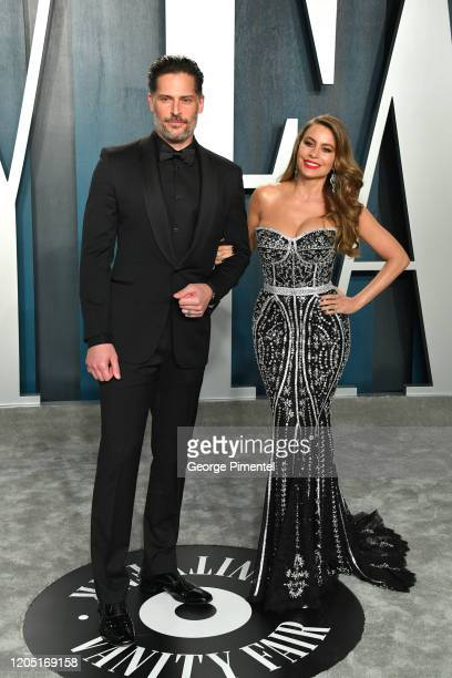 Joe Manganiello and Sofia Vergara attend the 2020 Vanity Fair Oscar party hosted by Radhika Jones at Wallis Annenberg Center for the Performing Arts...