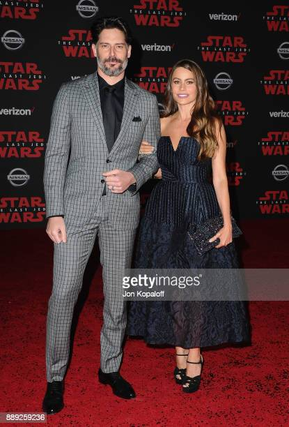 Joe Manganiello and Sofia Vergara attend the Los Angeles Premiere 'Star Wars The Last Jedi' at The Shrine Auditorium on December 9 2017 in Los...