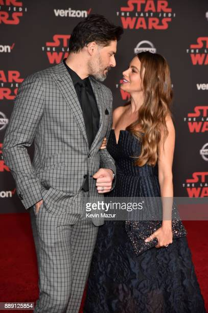 Joe Manganiello and Sofia Vergara attend the premiere of Disney Pictures and Lucasfilm's 'Star Wars The Last Jedi' at The Shrine Auditorium on...
