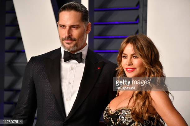 Joe Manganiello and Sofia Vergara attends the 2019 Vanity Fair Oscar Party hosted by Radhika Jones at Wallis Annenberg Center for the Performing Arts...
