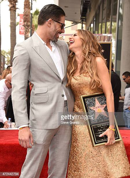 Joe Manganiello and Sofia Vergara Honored With Star On The Hollywood Walk Of Fame on May 7 2015 in Hollywood California