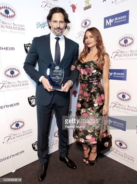Joe Manganiello and Sofia Vergara pose backstage at the Brent Shapiro Foundation Summer Spectacular at The Beverly Hilton Hotel on September 7 2018...