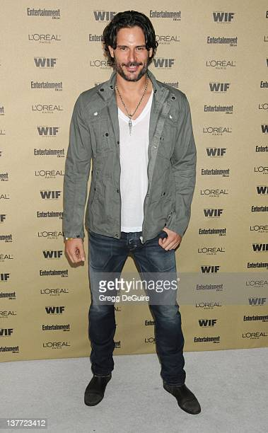 Joe Manganiello arrives at the Entertainment Weekly and Women In Film PreEmmy Party at the 'Restaurant' at the Sunset Marquis Hotel on August 27 2010...