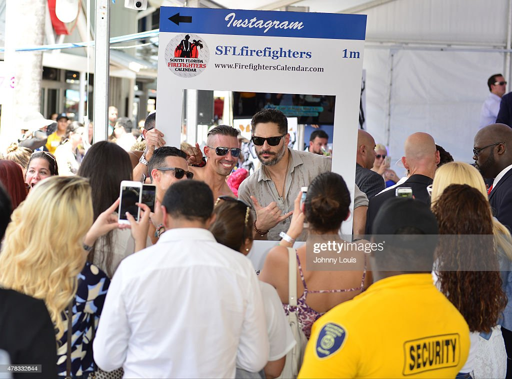 Joe Manganiello (R) attends Magic Mike XXL cast honored with stars on The Official Miami Walk Of Fame at Bayside Marketplace on June 24, 2015 in Miami, Florida.