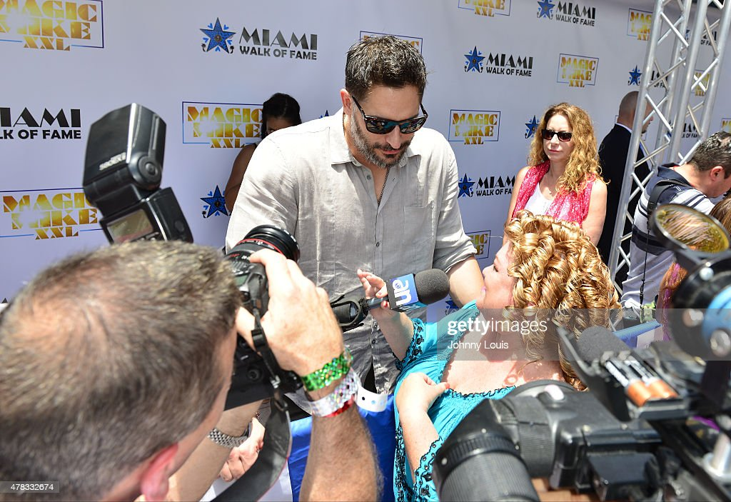Joe Manganiello attends Magic Mike XXL cast honored with stars on The Official Miami Walk Of Fame at Bayside Marketplace on June 24, 2015 in Miami, Florida.