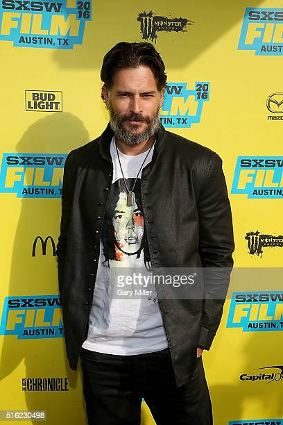 Joe Manganiello attends the premiere of 'PeeWee's Big Holiday' at the Paramount Theater during the South by Southwest Film Festival on March 17 2016...