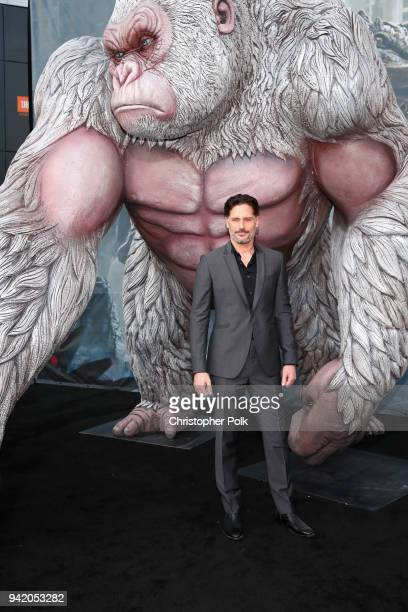 Joe Manganiello attends the premiere of Warner Bros Pictures' 'Rampage' at Microsoft Theater on April 4 2018 in Los Angeles California