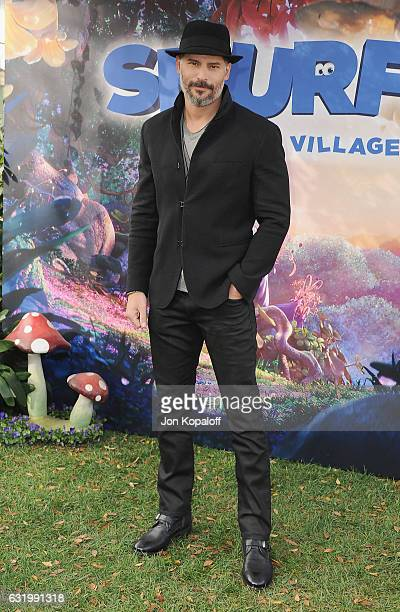 Joe Manganiello poses at the Photo Call For Sony Pictures Releasing's 'Smurfs The Lost Village' at Sony Pictures Studios on January 18 2017 in Culver...