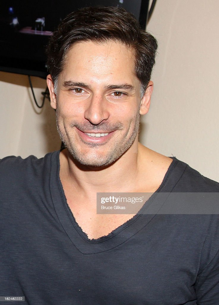 Joe Manganiello poses backstage at 'Steetcar Named Desire' at Yale Repertory Theater on September 29, 2013 in New Haven Connecticut.