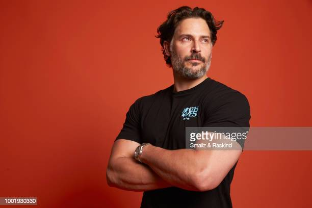 Joe Manganiello poses for a portrait in the Getty Images Portrait Studio powered by Pizza Hut at San Diego 2018 Comic Con at Andaz San Diego on July...