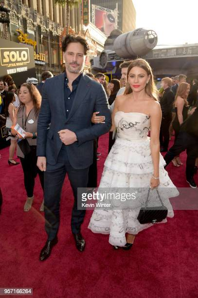 Joe Manganiello Sofía Vergara attend the premiere of Disney Pictures and Lucasfilm's 'Solo A Star Wars Story' at the El Capitan Theatre on May 10...
