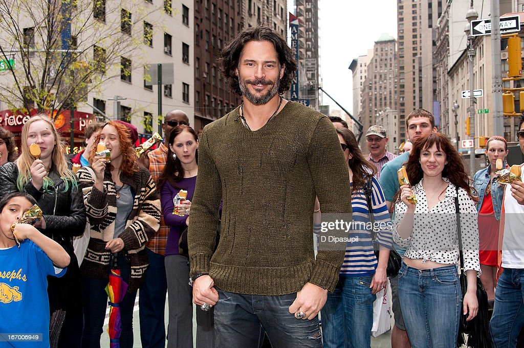 Joe Manganiello visits 'Extra' in Times Square on April 19, 2013 in New York City.
