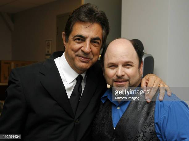 Joe Mantegna and Jason Alexander during The 8th Annual Hollywood Bowl Hall of Fame Backstage at The Hollywood Bowl in Hollywood California United...
