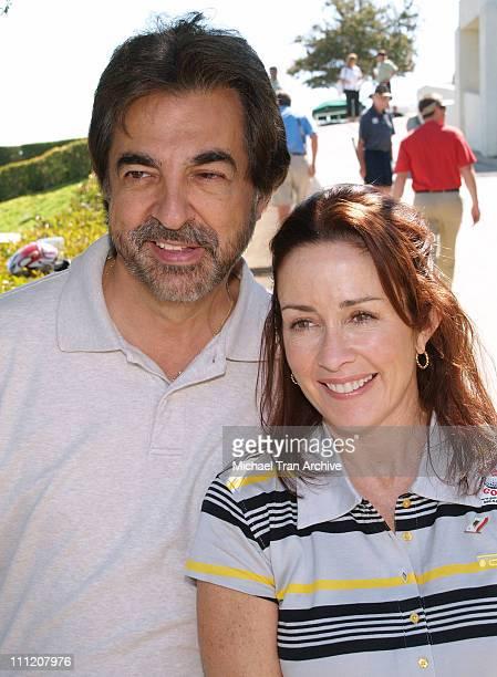 Joe Mantegna and Patricia Heaton during Greater Los Angeles Area USO Celebrity Golf Tournament at Braemar Country Club in Tarzana California United...