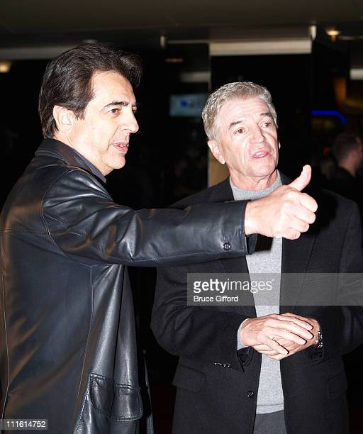 Joe Mantegna and Tom Dreesen during Legends Celebrity Invitational Charity Poker Tournament - Arrivals at The Palms Casino Resort in Las Vegas in Las...