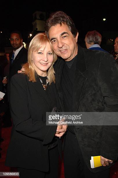 Joe Mantegna and wife Arlene during Billy Crystal '700 Sundays' Opening Night Red Carpet and Inside at Wilshire Theatre in Los Angeles California...