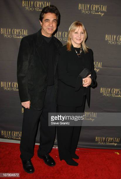 Joe Mantegna and wife Arlene during Los Angeles Opening Night of The Tony Award Winning Broadway Show Billy Crystal '700 Sundays' at Wilshire Theatre...