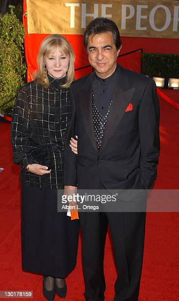 Joe Mantegna and wife Arlene during The 30th Annual People's Choice Awards Arrivals at Pasadena Civic Auditorium in Pasadena California United States