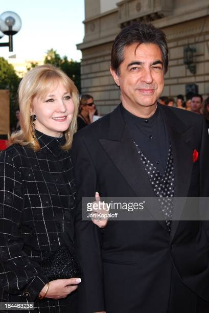 Joe Mantegna and wife Arlene Vrhel during The 30th Annual People's Choice Awards Arrivals at Pasadena Civic Auditorium in Pasadena California United...