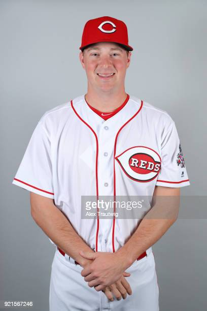 Joe Mantiply of the Cincinnati Reds poses during Photo Day on Tuesday February 20 2018 at Goodyear Ballpark in Goodyear Arizona