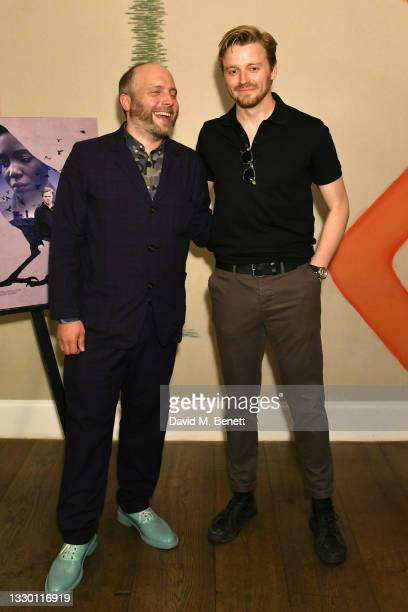 """Joe Marcantonio and Jack Lowden attend a special screening of """"Kindred"""" at The Ham Yard Hotel on July 22, 2021 in London, England."""