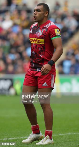 Joe Marchant of Harlequins looks on during the Aviva Premiership match between Wasps and Harlequins at The Ricoh Arena on September 17 2017 in...