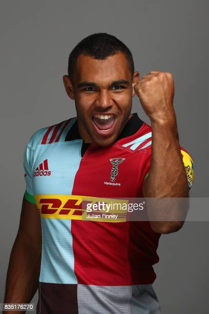 Joe Marchant of Quins poses for a portrait during the Harlequins photocall for the 20172018 Aviva Premiership Rugby season at The Stoop on August 18...