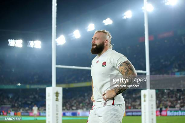 Joe Marler of England acknowledges the crowd after defeat in the Rugby World Cup 2019 Final between England and South Africa at International Stadium...