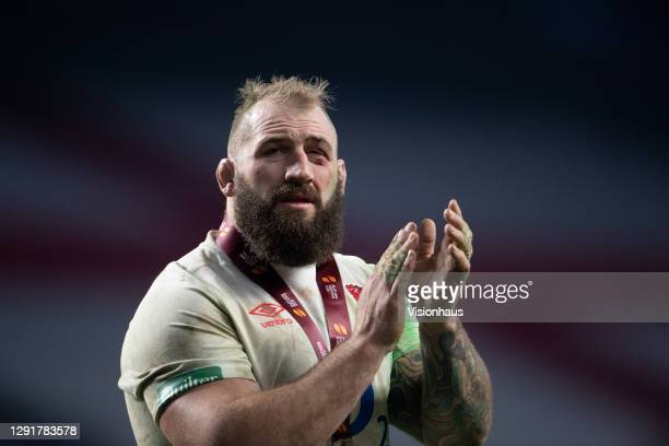 Joe Marler of England after England win the Autumn Nations Cup Final & Quilter International between England and France at Twickenham Stadium on...