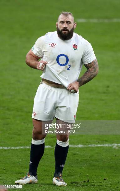 Joe Marler of England looks on during the Autumn Nations Cup Final and Quilter International match between England and France at Twickenham Stadium...
