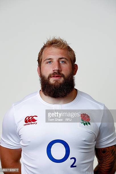 Joe Marler of England poses for a portrait during the England Elite Player Squad photo call at The Lensbury on August 7 2016 in Teddington England