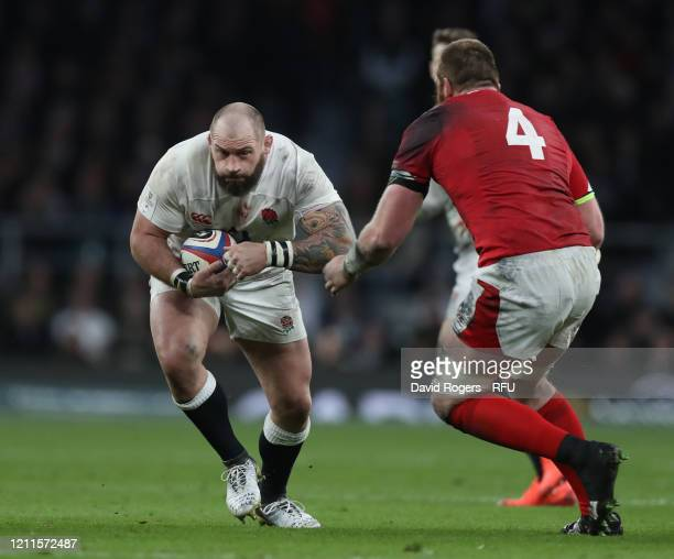 Joe Marler of England takes on Jake Ball during the 2020 Guinness Six Nations match between England and Wales at Twickenham Stadium on March 07 2020...