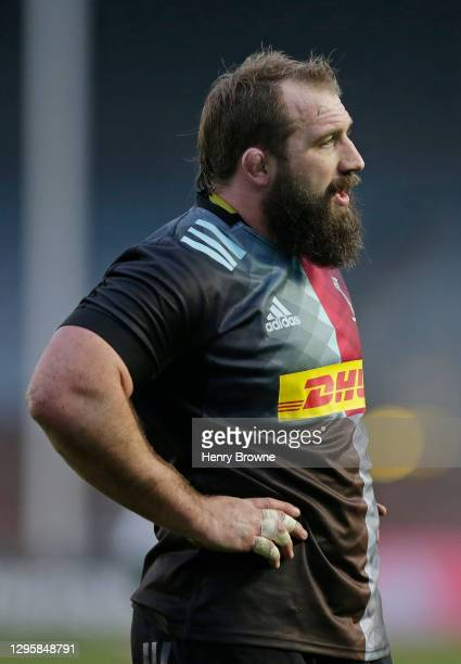 Joe Marler of Harlequins during the Gallagher Premiership Rugby match between Harlequins and London Irish at Twickenham Stoop on January 10, 2021 in...