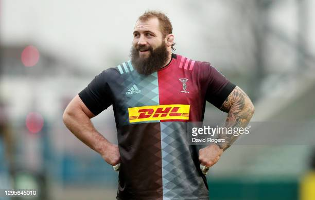 Joe Marler of Harlequins looduring the Gallagher Premiership Rugby match between Harlequins and London Irish at Twickenham Stoop on January 10, 2021...