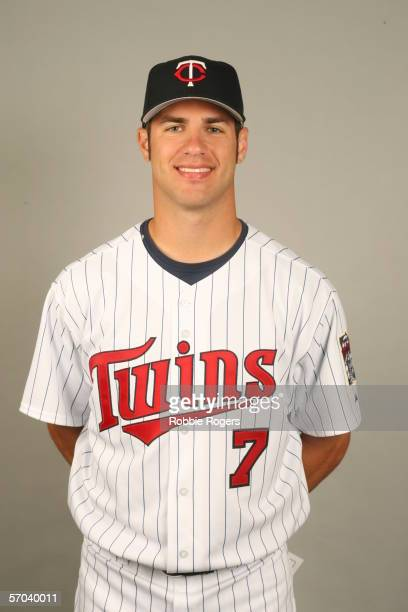 Joe Mauer of the Minnesota Twins during photo day at Hammond Stadium on February 27 2007 in Ft Myers Florida