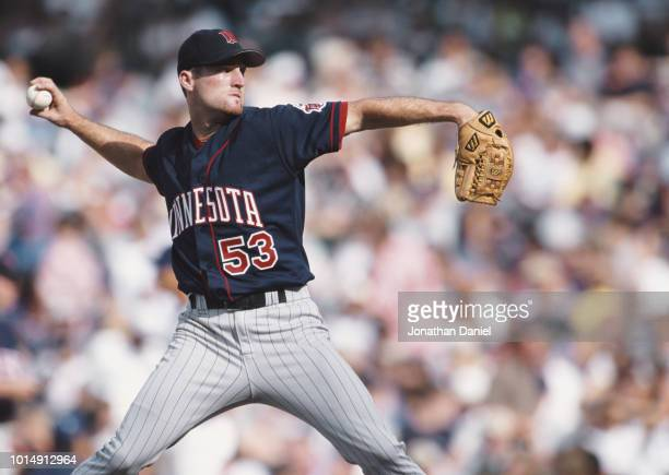 Joe Mays Pitcher for the Minnesota Twins on the mound during the Major League Baseball American League Central game against the Chicago Cubs on 17...