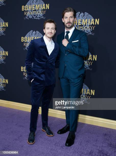 Joe Mazzello and Gwilym Lee attends Bohemian Rhapsody New York premiere at The Paris Theatre on October 30 2018 in New York City