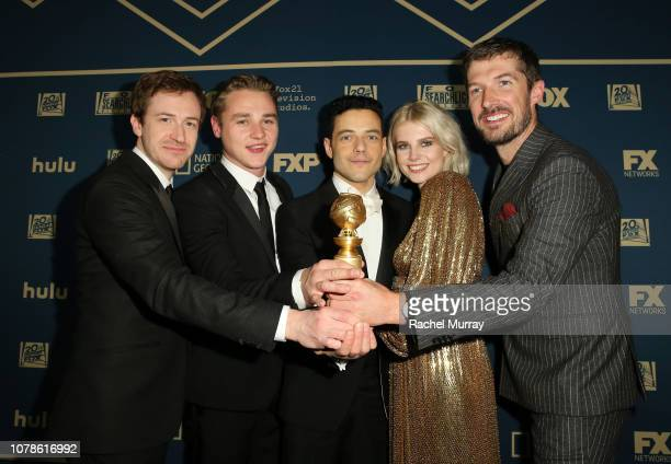 Joe Mazzello Ben Hardy Rami Malek Lucy Boynton and Gwilym Lee attend the FOX/HULU Golden Globe Awards viewing party and postshow celebration at The...