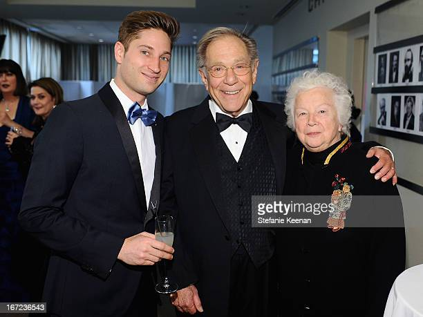 Joe McCanta Brand Ambassador actor George Segal and Sonia Schultz Greenbaum attend for Grey Goose poses at the Grey Goose cocktail reception of The...