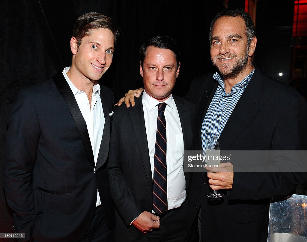 Joe McCanta, Global Brand Ambassador for Grey Goose, WME agent Chris Donnelly and producer Michael Sugar at the Grey Goose vodka co-hosted party for 'Rush' on September 8, 2013 in Toronto, Canada.