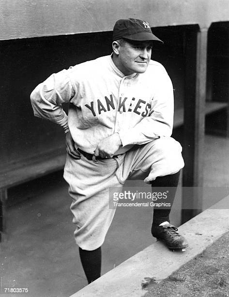 NEW YORK APRIL 1931 Joe McCarthy manager of the New York Yankees poses for a dugout steps portrait in Yankee Stadium in 1931