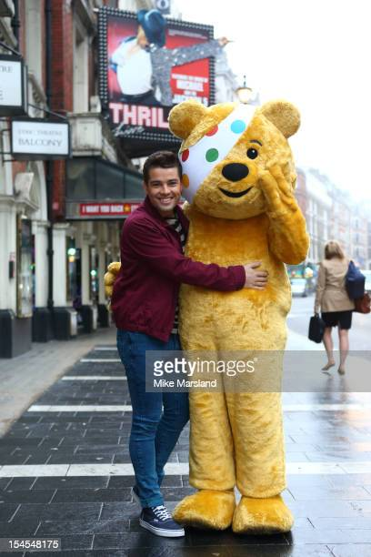 Joe McElderry poses at a photocall ahead of his performance in Thriller for Children In Need's Pop Goes The Musical at Lyric Theatre on October 22...