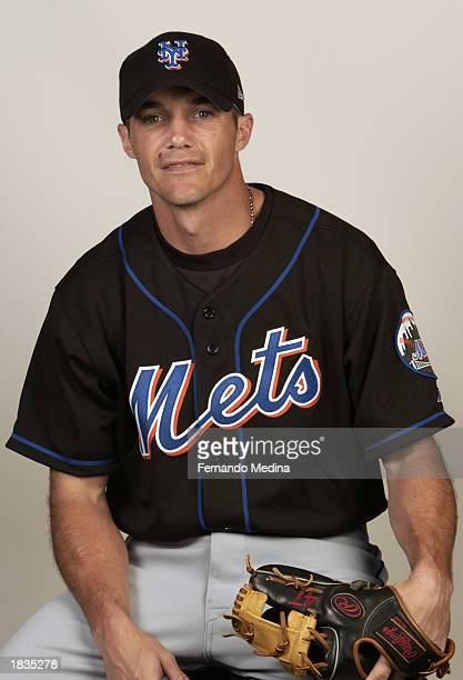 Joe McEwing of the New York Mets poses for a portrait during media day at Thomas J White Stadium on February 25 2003 in Port St Lucie Florida