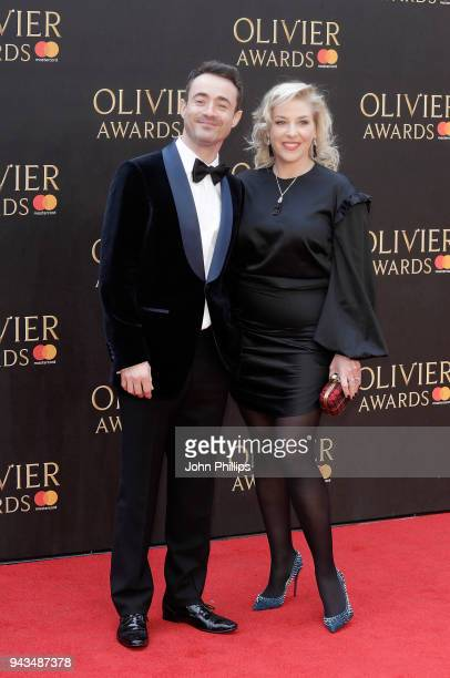 Joe McFadden and guest attend The Olivier Awards with Mastercard at Royal Albert Hall on April 8 2018 in London England