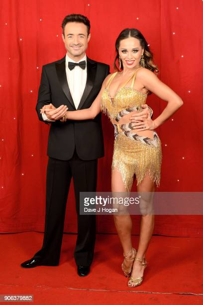 Joe McFadden and Katya Jones attend the 'Strictly Come Dancing' Live photocall at Arena Birmingham on January 18 2018 in Birmingham England Ahead of...
