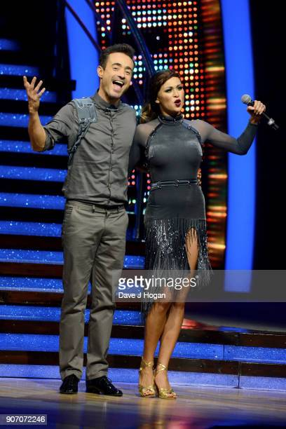 Joe McFadden and Katya Jones attend the 'Strictly Come Dancing' Live dress rehearsal at Arena Birmingham on January 18 2018 in Birmingham England...
